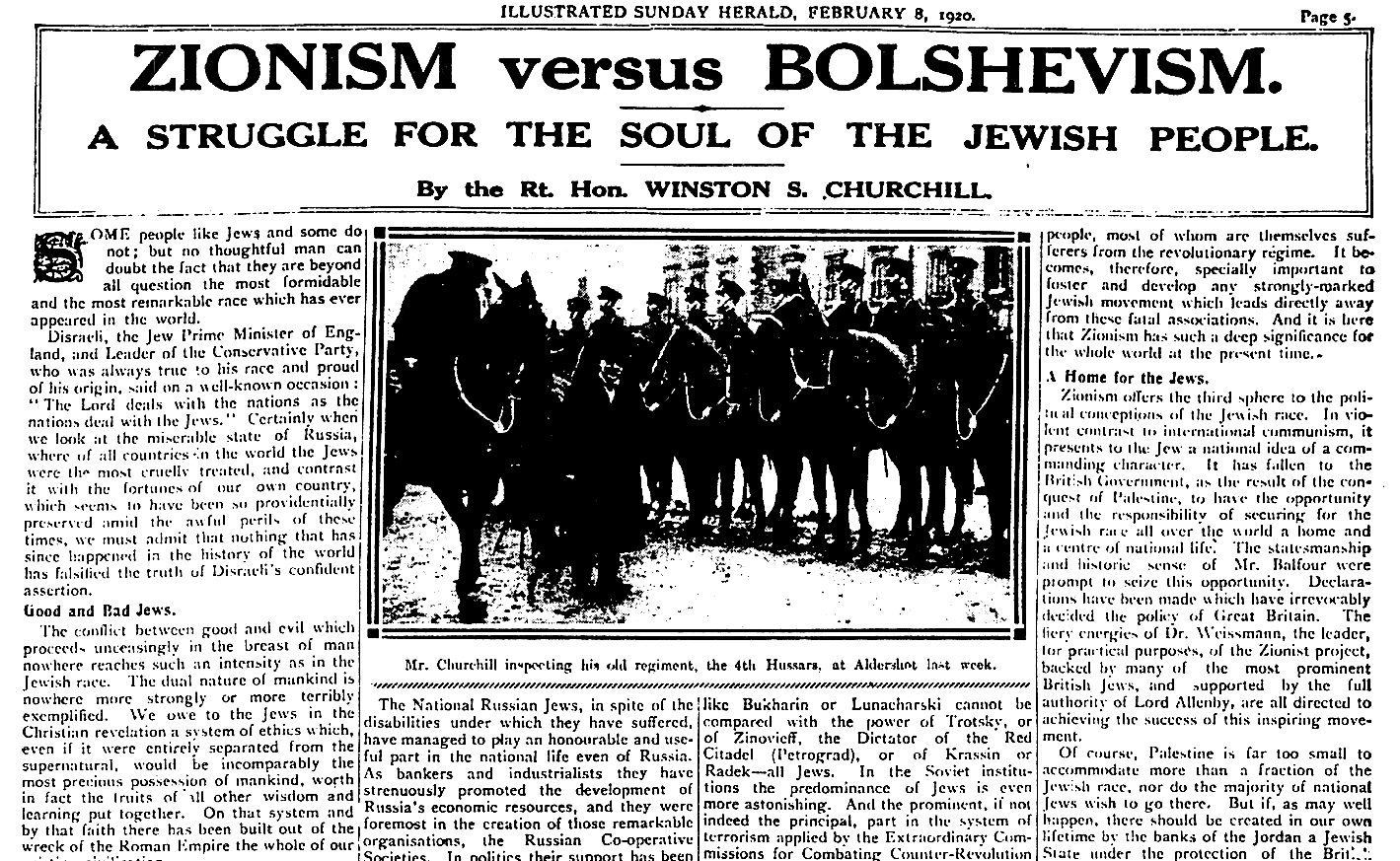 Zionism Versus Bolshevism