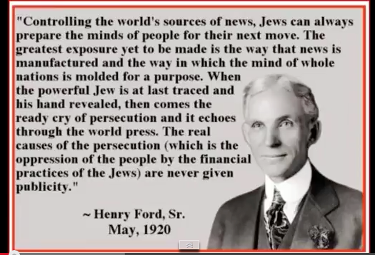 Henry Ford On Jewish Control Of The Media