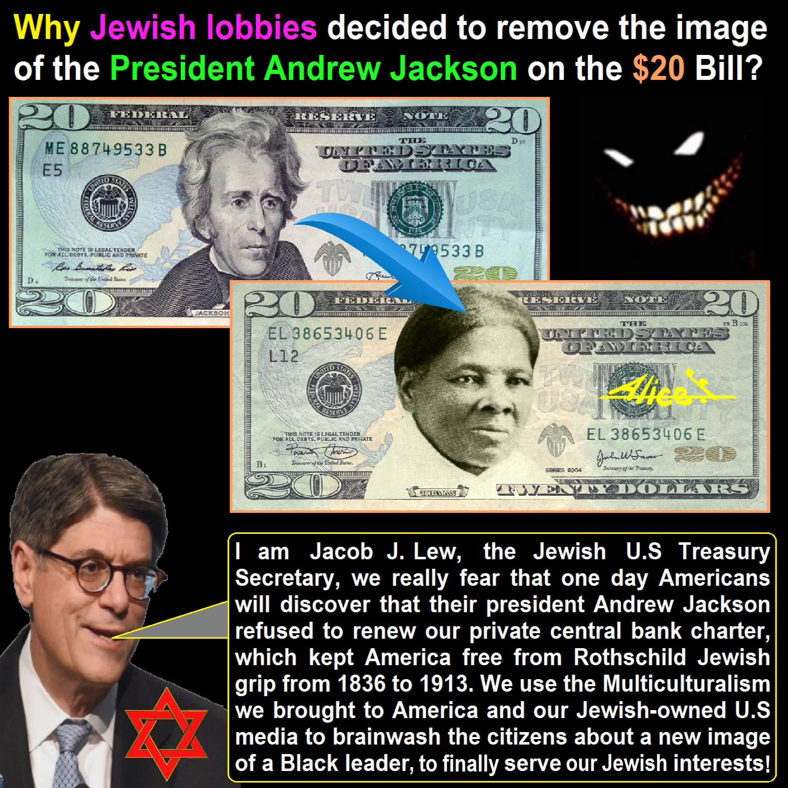 Why Jewish Lobbies Removed Andrew Jackson From The $20 Bill