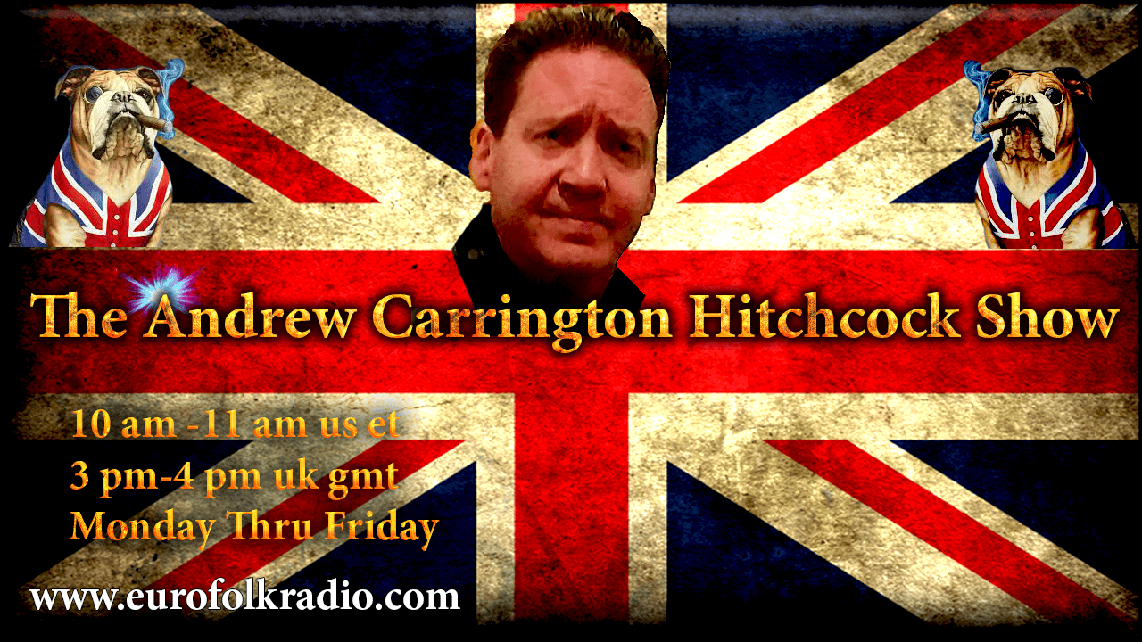 Coming Up On The Andrew Carrington Hitchcock Show Monday December 19 To Saturday December 24 – Thomas Kimmel / Dr. Eric Karlstrom / Olaf Childress / Dr. Adrian Krieg / Captain Bernard Davids / Pastor Eli James