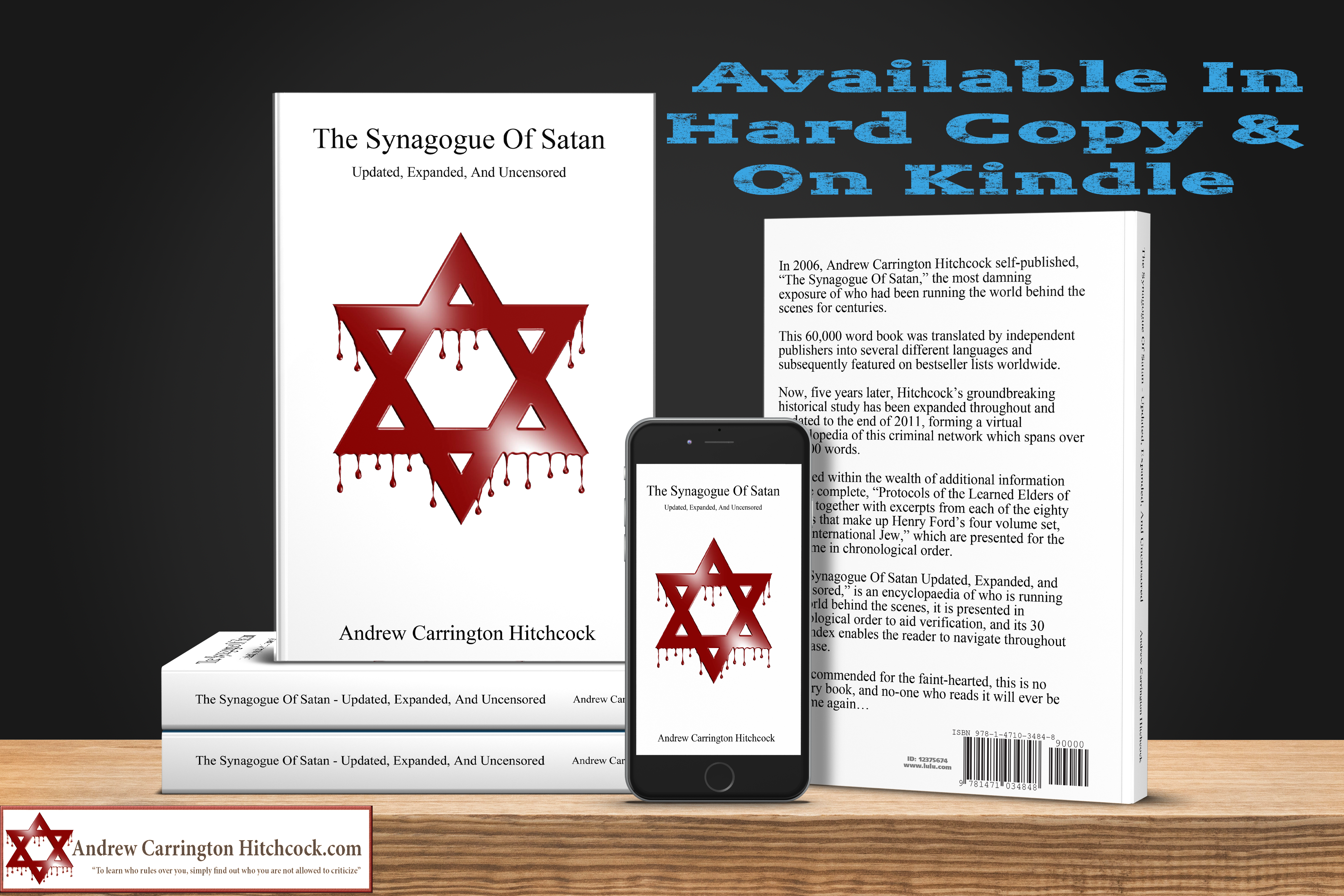 The Andrew Carrington Hitchcock Show (283) The Synagogue Of Satan Updated, Expanded, And Uncensored – Part 8 (1920 – The International Jew – Part 2)