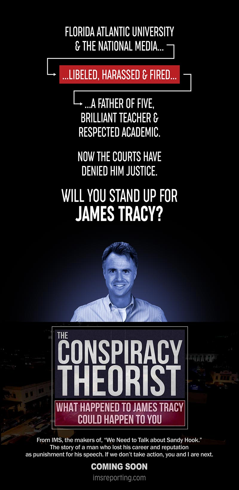 The Andrew Carrington Hitchcock Show (900) Dr. James F. Tracy – What Happened To James Tracy Could Happen To You…